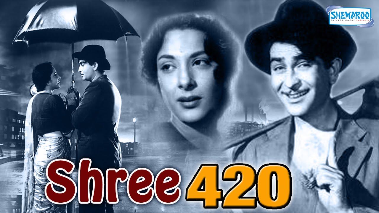 Shree 420 - Raj Kapoor, Nadira and Lalita Pawar - Bollywood Evergreen Movie