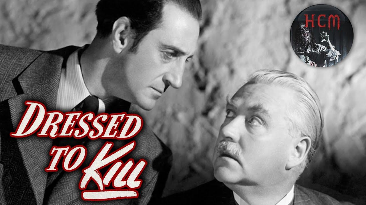 CRIME MOVIE: Dressed to Kill full movie   Sherlock Holmes movie   murder mystery   detective story
