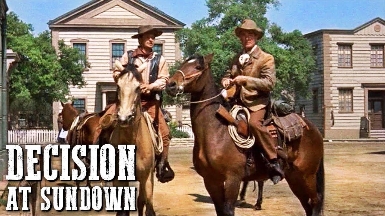 Decision at Sundown   Classic WESTERN MOVIE   Full Length   Free Cowboy Movie   Free Film   English
