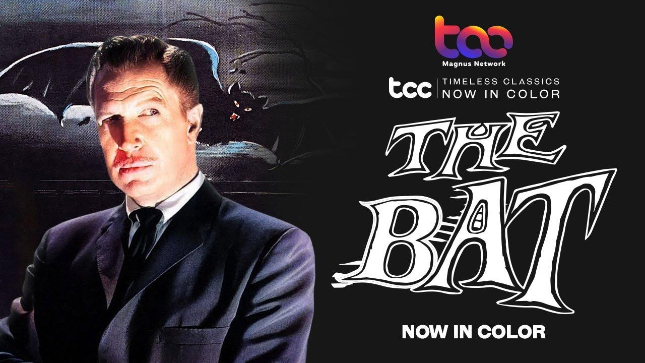 THE BAT (Full Movie) - Vincent Price - Agnes Moorehead - TCC AI Color